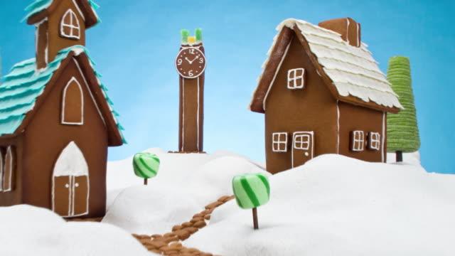 gingerbread village - pepparkaka bildbanksvideor och videomaterial från bakom kulisserna