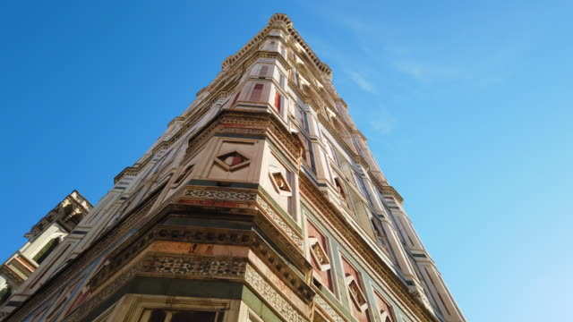 Giotto's Bell Tower Giotto's Bell Tower, Florence - Italy neo gothic architecture stock videos & royalty-free footage