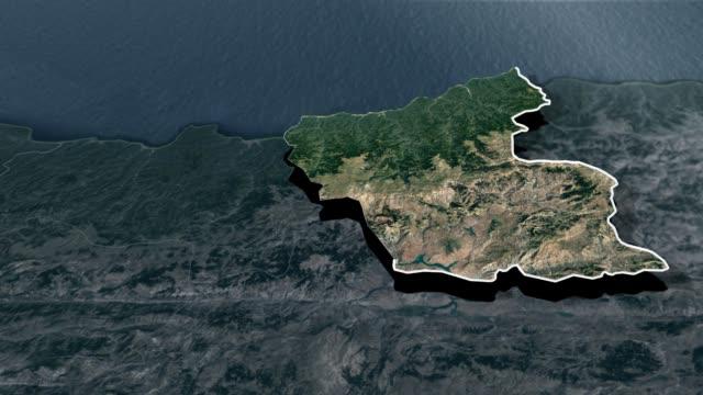 giresun provinsen - animation karta - anatolien bildbanksvideor och videomaterial från bakom kulisserna