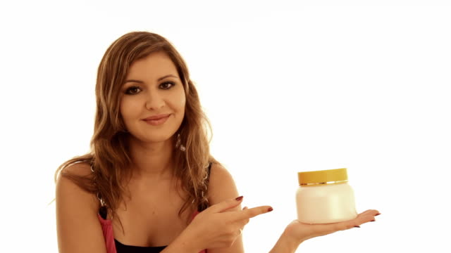 Girl advertises cream video