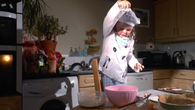 Girl Baking A Cake video