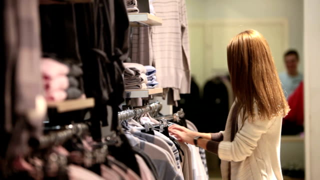 Girl choosing clothes video