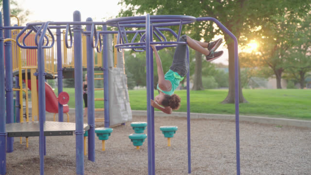 Girl Climbs Jungle Gym video