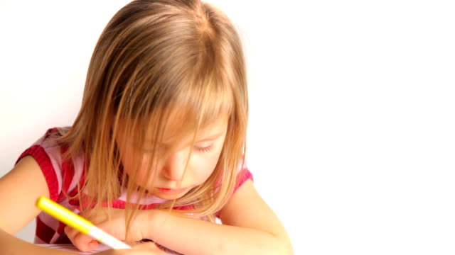 Girl Colouring video