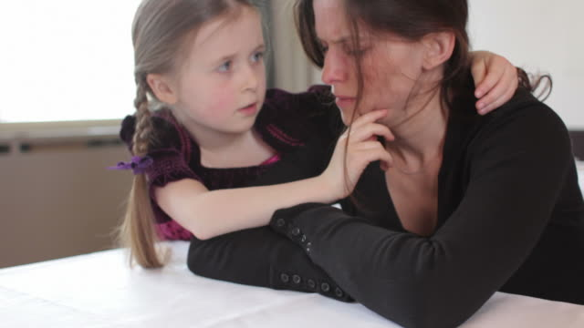 Girl consoles mother video