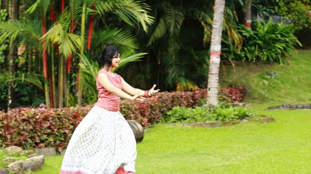 Girl Dancing in the Garden video