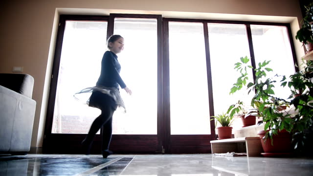 Girl dancing in the room. video
