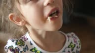 istock girl eat eating mouth close macro Pizza capricciosa cheese ham mushrooms 1270415744