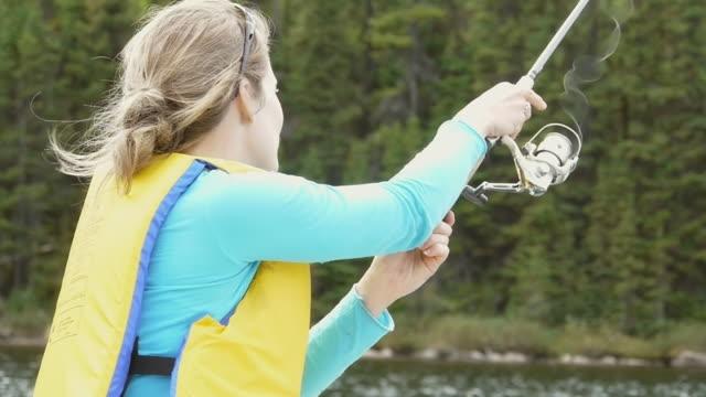 Girl Fishing video