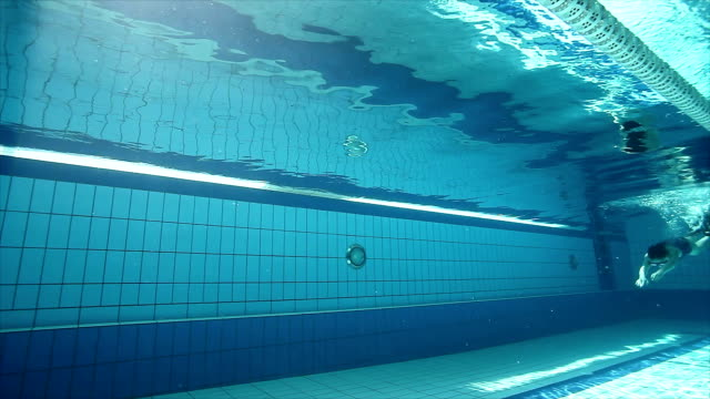 Girl freediving in the swimming pool video