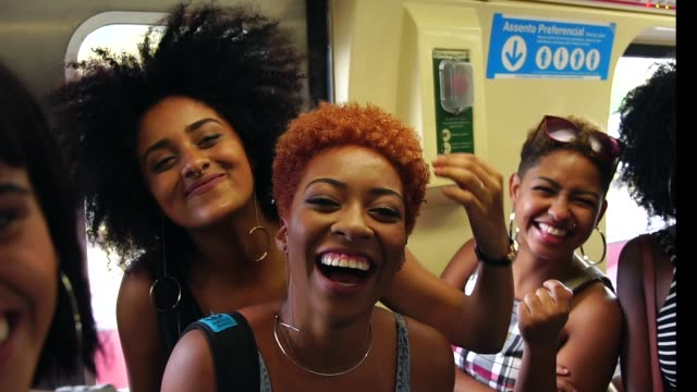 Girl Friends Taking a Selfie at subway station Real Life underground stock videos & royalty-free footage