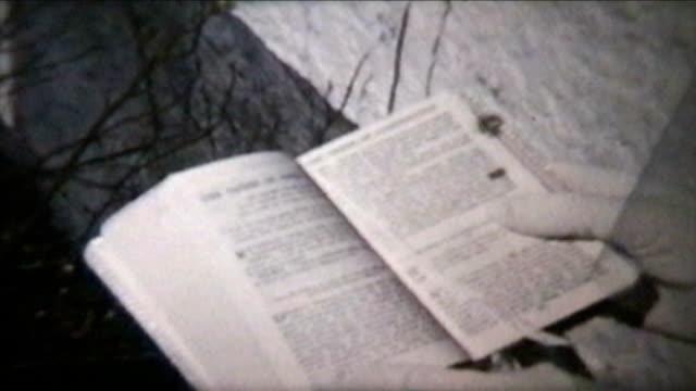 Girl Holding Bible (1960 Vintage 8mm film) video