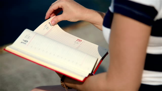 Girl Holding Blank Diary video