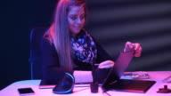 istock Girl illustrator graphic designer working looking at camera 1126975861