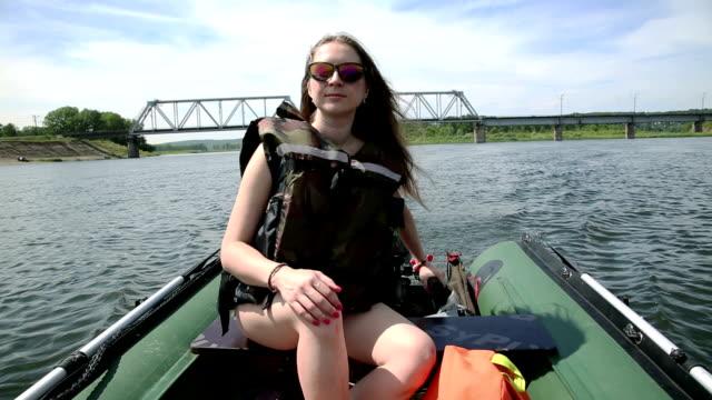Girl in a boat video