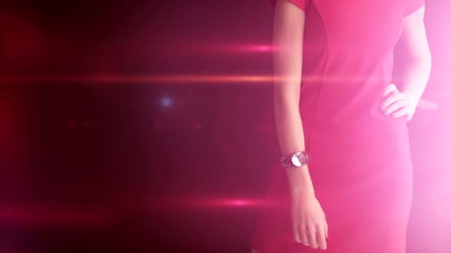 vídeos de stock, filmes e b-roll de garota de vestido vermelho - eventos de gala