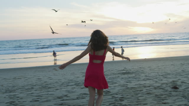 Girl in Santa Monica State Beach
