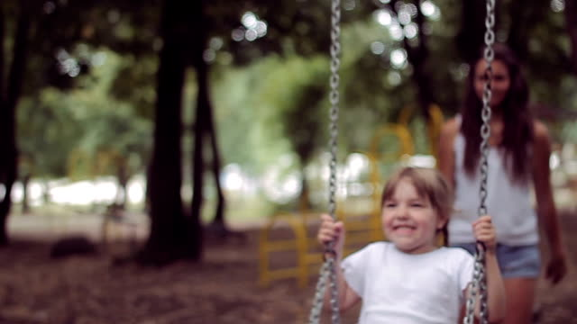 Girl on a swing video