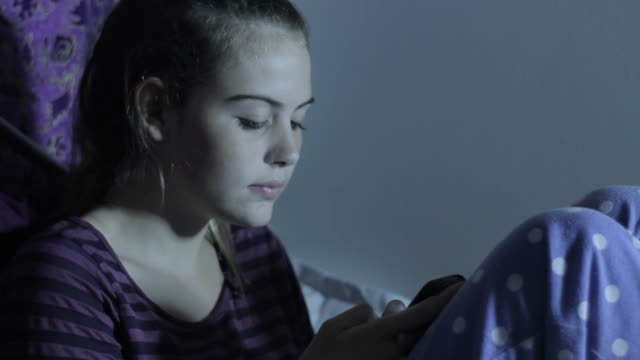 Girl On Phone Teen Depression Cyber Bullying and Internet Social Media video