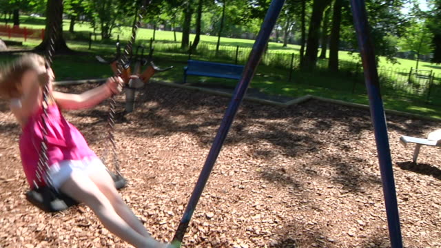 Girl on swing video