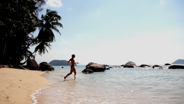 Girl on the beach (HD) video