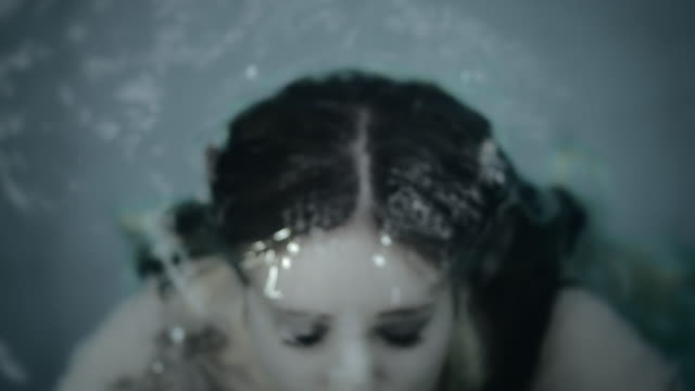 Girl out from the pool video