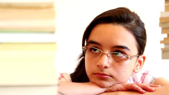 Girl Overwhelmed with School Work video