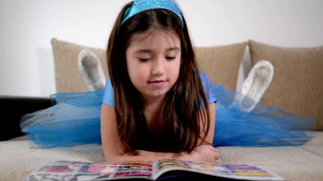 Girl reading book video