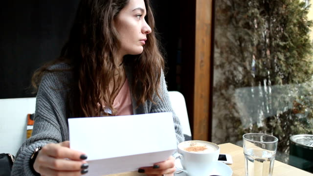Girl reading letter video