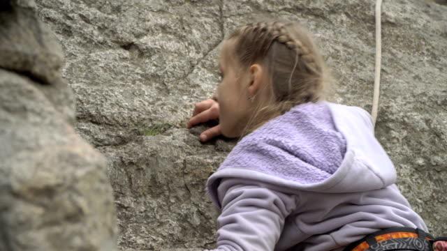 Girl rock climber video