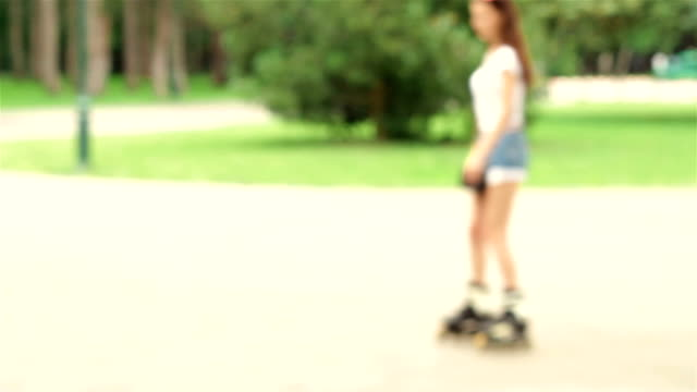 girl rollerblading in a Dim background young girl rollerblading in a Dim background charming stock videos & royalty-free footage
