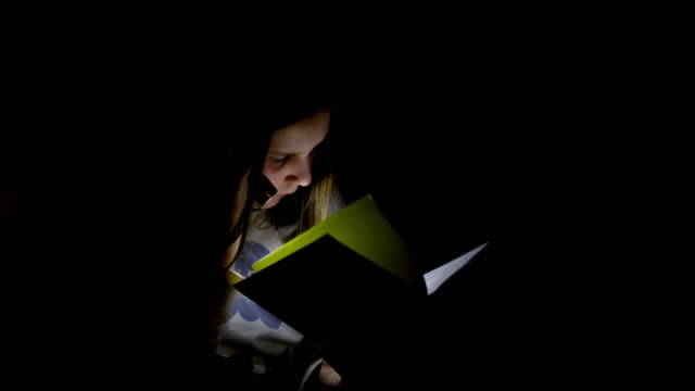 MS Girl secretly reading a book video