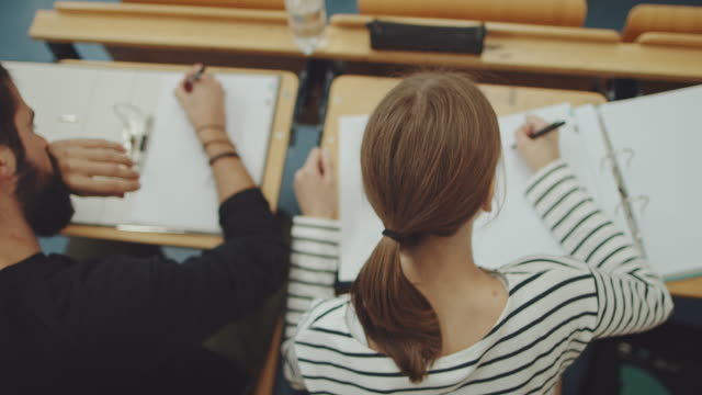 GIrl sitting in classroom video