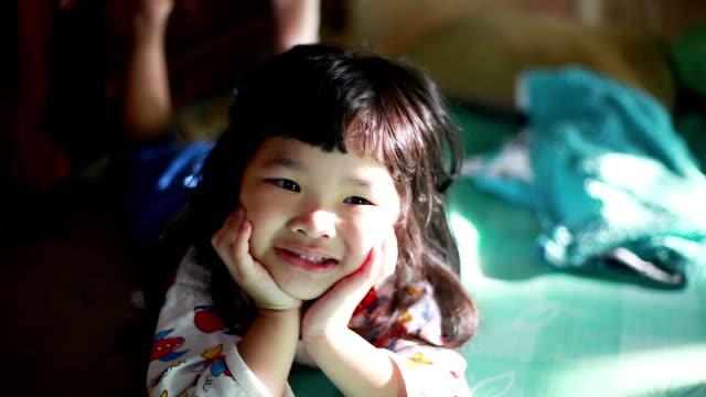 Girl smiling video
