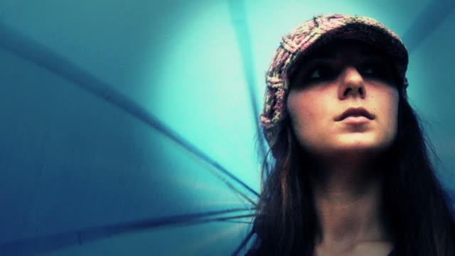 Girl Twirling Umbrella video