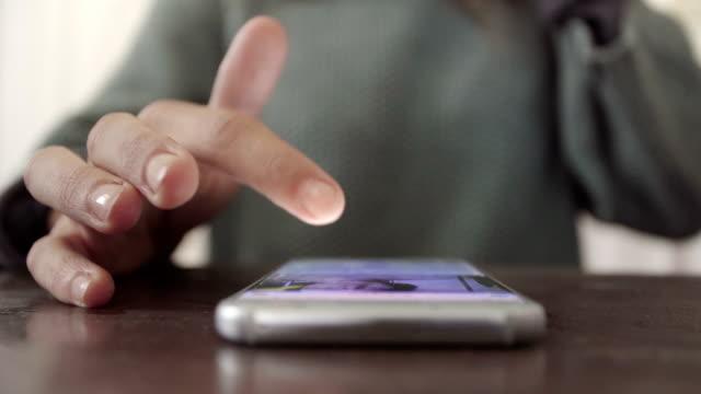 Girl Using Smartphone Indoors video