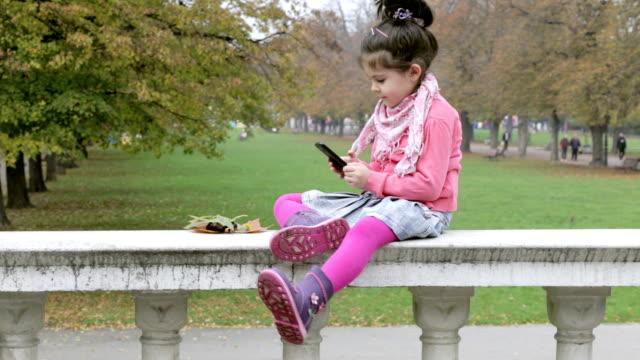 Girl Using Smartphone video
