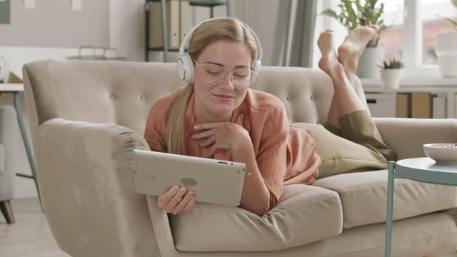 Girl Video Calling with Tablet