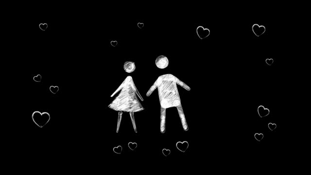 Girl_and_boy_kissing_loop video