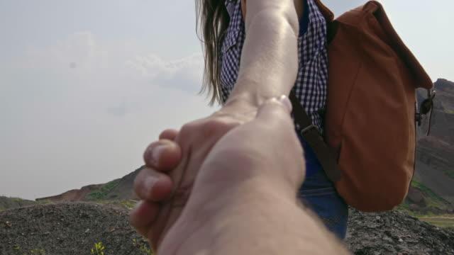 Girlfriend Leading Boyfriend by Hand video