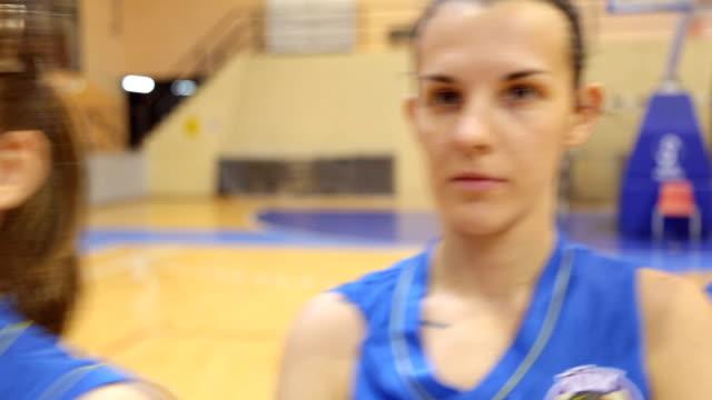 Girls basketball players video