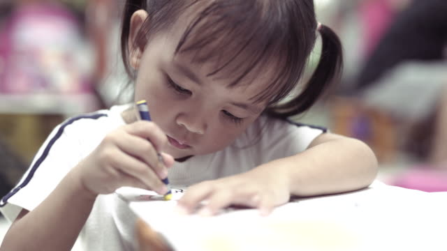 Girls coloring Girls coloring thai ethnicity stock videos & royalty-free footage