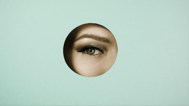 Girl's eye. Concept advertising.