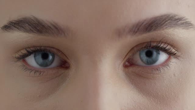 Girl's eyes. Fashion video. Make-up.