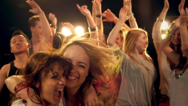 Girls having fun in disco video