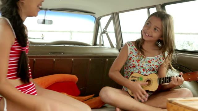 Girls inside car video