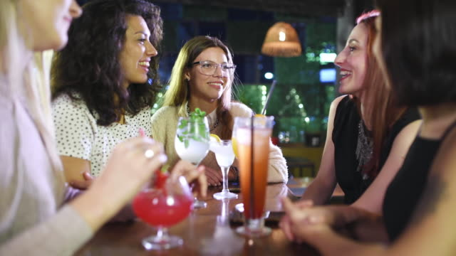 girls night out - happy hour video stock e b–roll