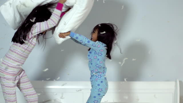 Girls Pillow Fight video