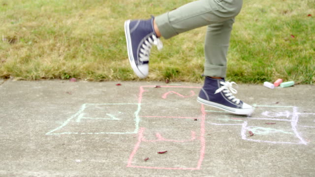 Girls Playing Hopscotch video