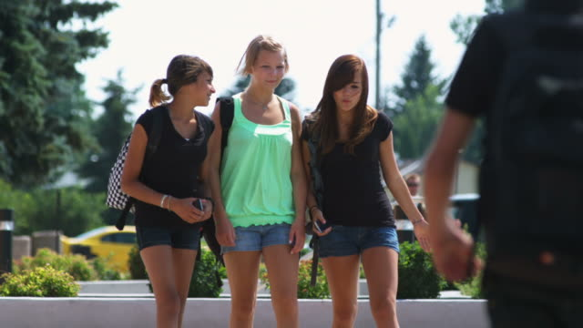 Girls Walk with Cell Phones video